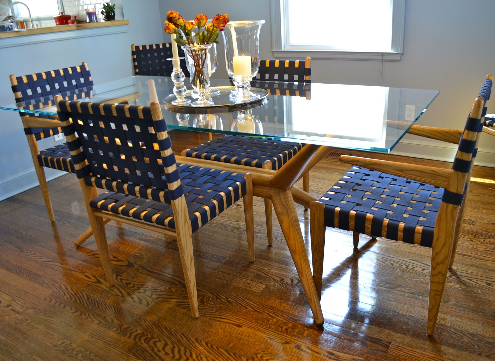 dining room set ash glass and webbing dining chairs dining rh pinterest com