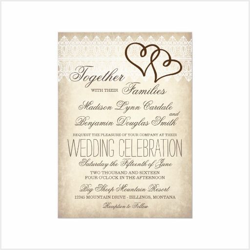 Double Hearts Wedding Invitation Sets. This Rustic Country
