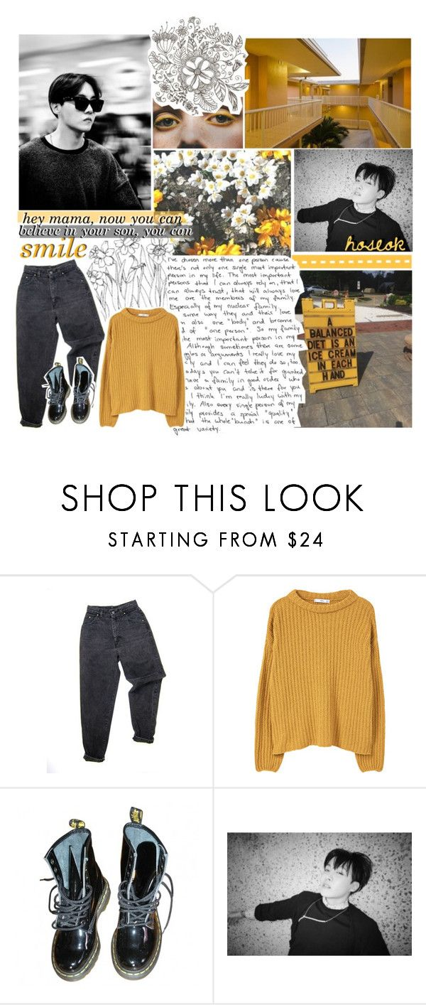"""hey mama,"" by sydnivan20 ❤ liked on Polyvore featuring Nicole Miller, Levi's, MANGO, Dr. Martens, LØMO and bobts"