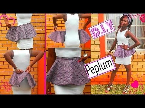 Detachable.removable peplum belt (african print) DIY sewing tutorial ...