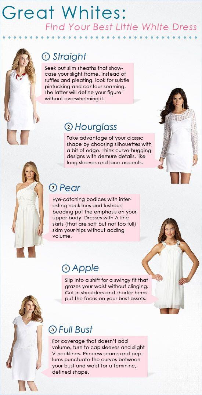 Great Whites: White Dresses by Body Type | Fashion | Pinterest ...