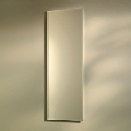 Jensen Medicine Cabinet Pillar 12W X 36H In. Recessed Beveled Mirror Medicine  Cabinet 768M34WH