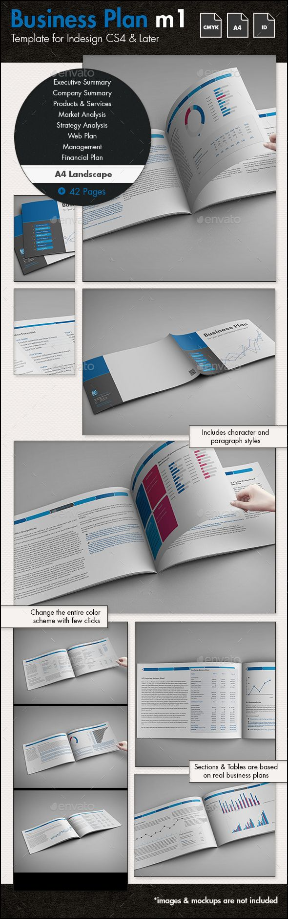 Business plan template m1 a4 landscape business planning business plan template m1 a4 landscape indesign indd editable charts plan available here cheaphphosting Gallery