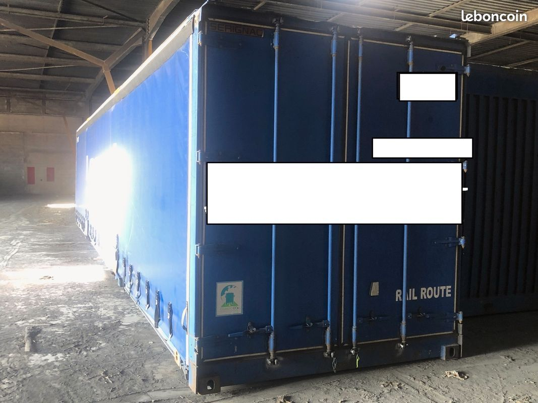 Container Type Tautliner Debachable Des 2 Cotes 40 Pieds En Excellent Etat Possibilite Livraison A Prix Attractif Ideal Pour Stockage Container Stockage Etat