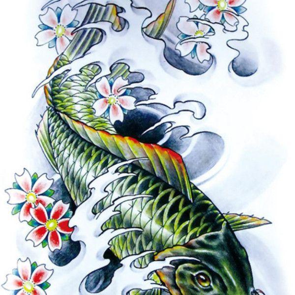 Green koi carp koi carpe poisson rouge pinterest for Croisement carpe koi poisson rouge