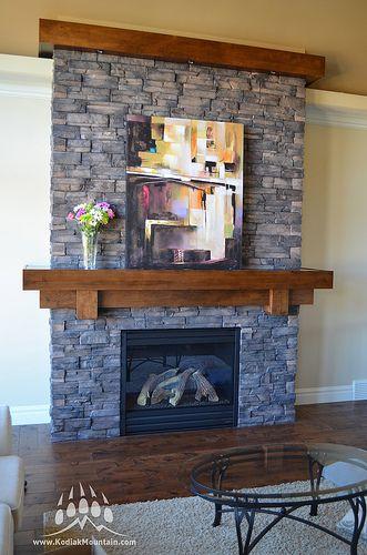 frontier ledge color walnut fireplaces from kodiak mountain rh pinterest com