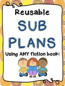 Emergency Sub Plans - Reusable Activities for 3rd, 4th, and 5th Grade #emergencysubplans Sub Plans! Make sub plans less stressful - choose any fiction book with characters, and reuse these sub plans over and over! These sub plans include activities for language arts, math, social studies, and science. Check out the preview to see everything included in the sub plans! #emergencysubplans