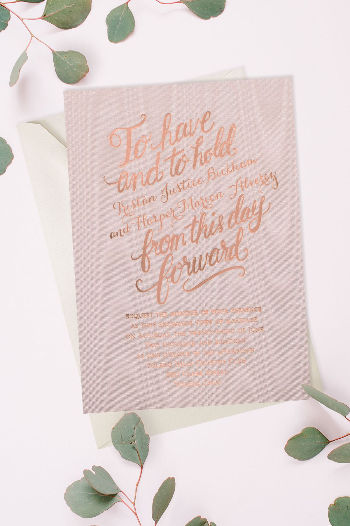 creative wording for rehearsal dinner invitations%0A These beloved words get the luxe treatment when they u    re printed in foil on  this