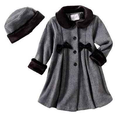 Sophie Rose Fleece Coat - Toddler