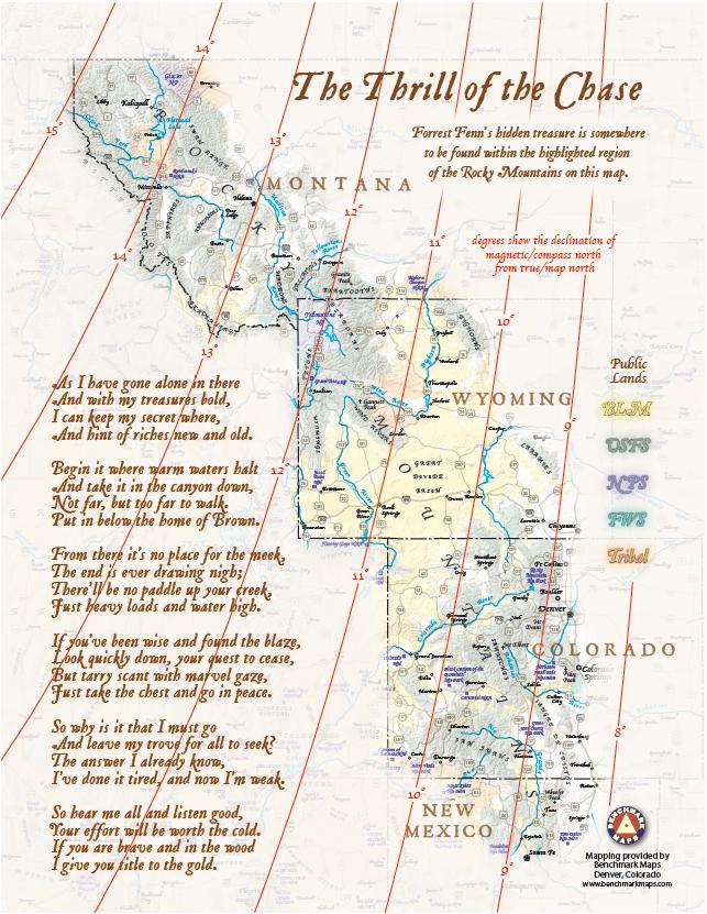 Fenn_Treasure_Map | Inspirational in 2019 | Forrest fenn treasure