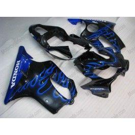 Honda CBR600 F4i 2001-2003 Injection ABS Fairing - Blue Flame - Black | $669.00