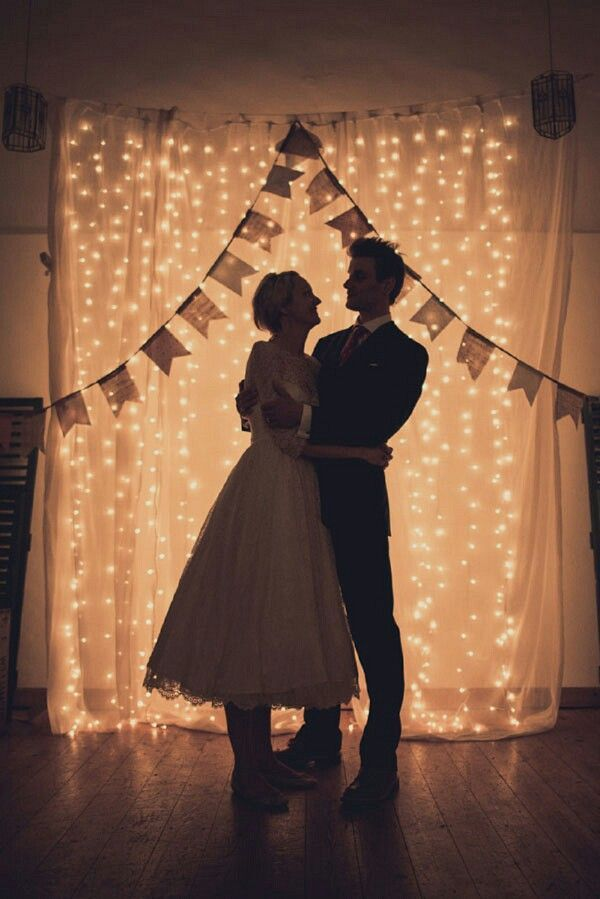 diy outdoor wedding lighting ideas%0A Fairy light backdrop but might not be the appropriate setup for our photos   but this is soo cool