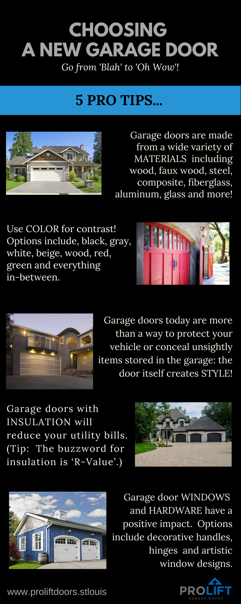 Here Are 5 Pro Tips For Choosing A New Garage Door For Your Home A