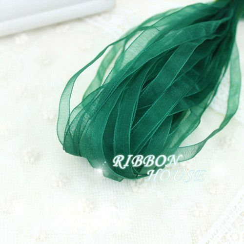 (10 meters/lot) 1/4''(6mm) Organza Ribbon wholesale gift wrapping Christmas ribbons