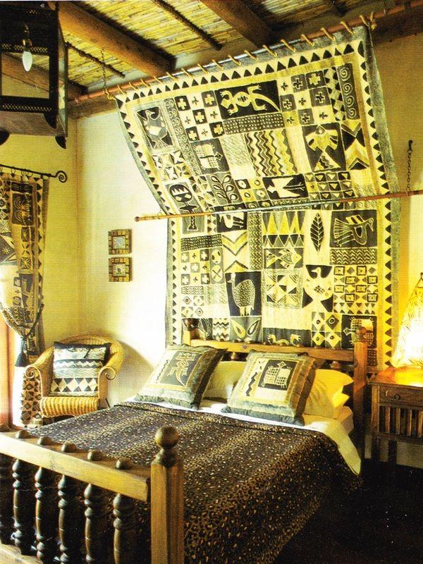 We could hang Ghana blanket like this