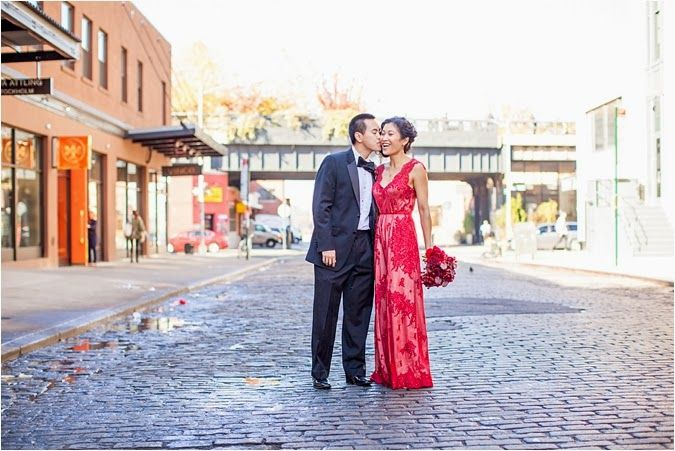 Chic Meatpacking District Anniversary Shoot  Gown by Rania Hatoum