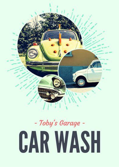Green Circle Carwash Flyer  Canva Inspiration