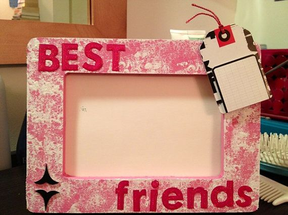 HANDMADE PICTURE FRAME - Best Friends - Pink, White, Black by ...
