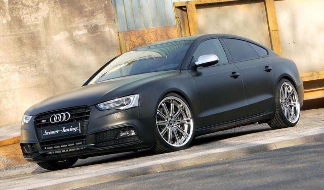 matte black audi s5 sportback tuned by senner cars audi s5