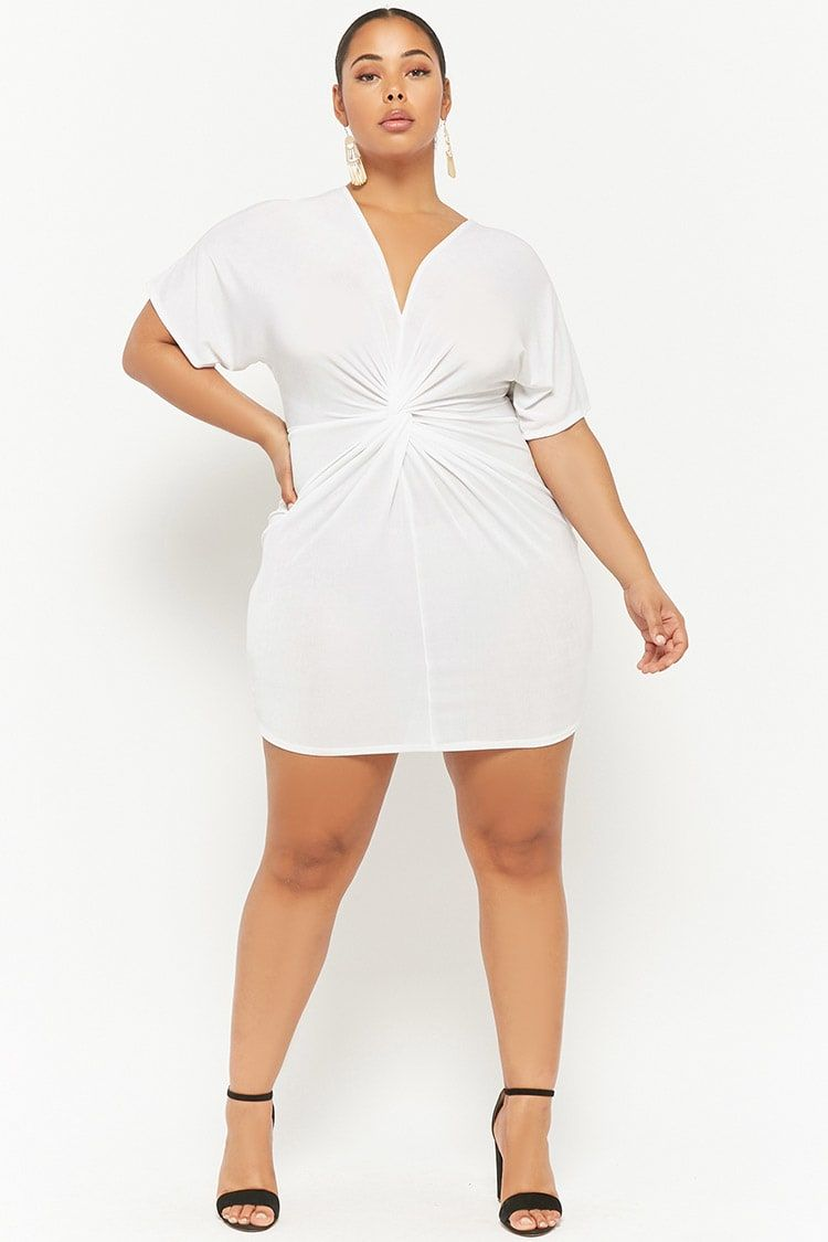 Plus Size Plunging Tulip Dress Forever21 my crush