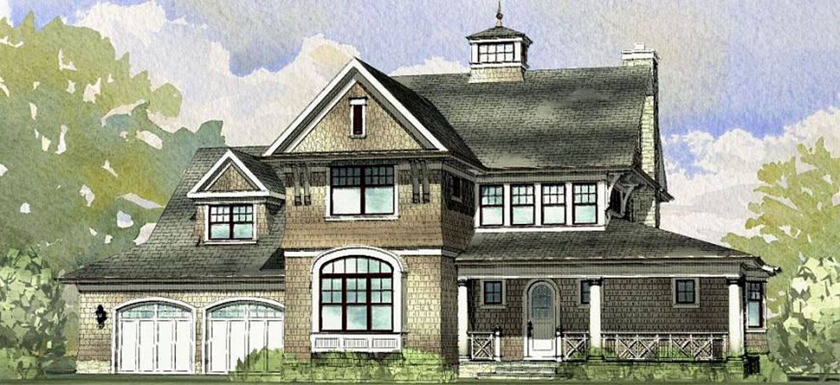 Plan 970034vc Classic Shingle Style House Plan Beach Style House Plans Lake Front House Plans Shingle Style