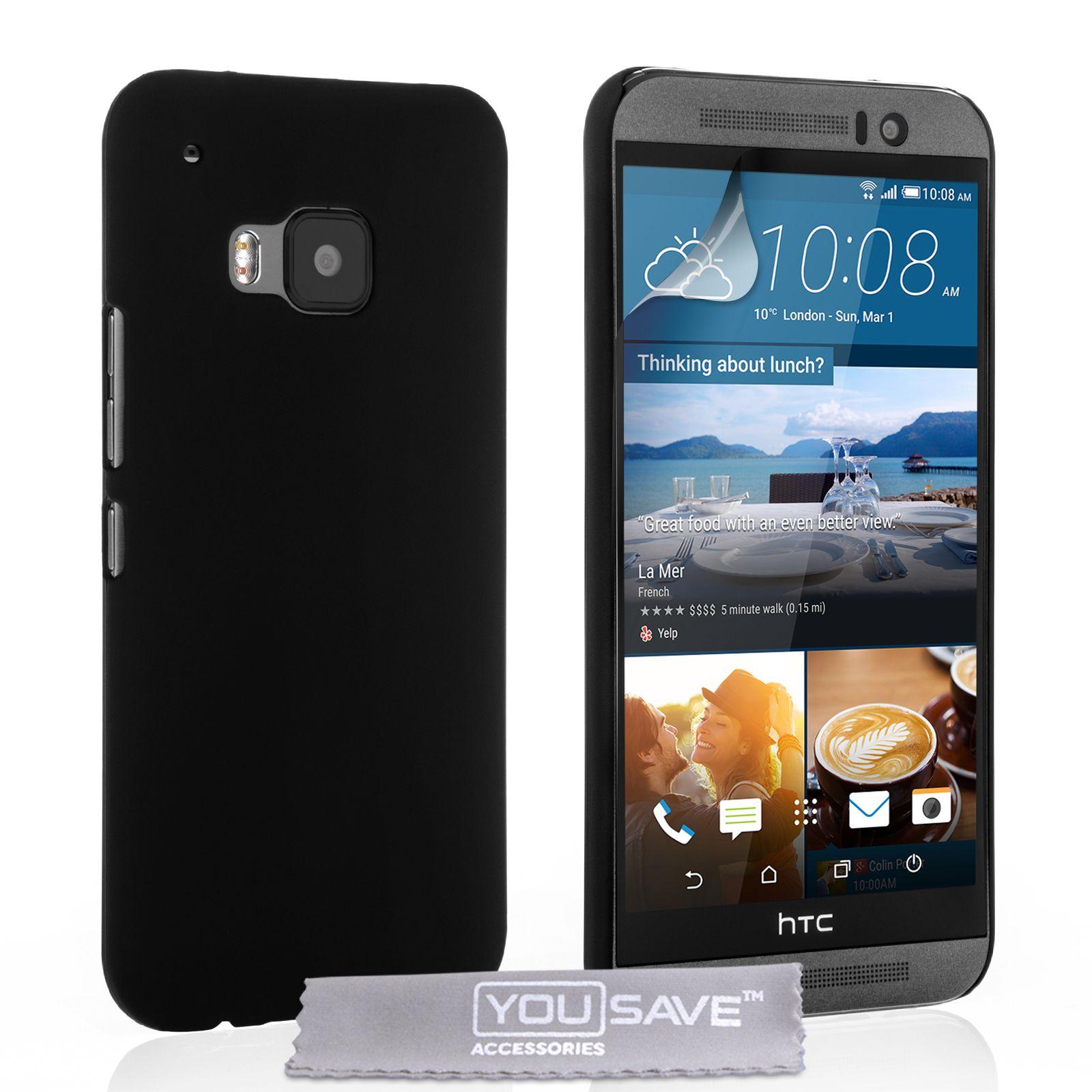 YouSave HTC M9 Hard Hybrid Case - Black | Mobile Madhouse