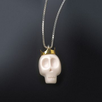 Skull Crown Necklace White - by Tina Lilienthal