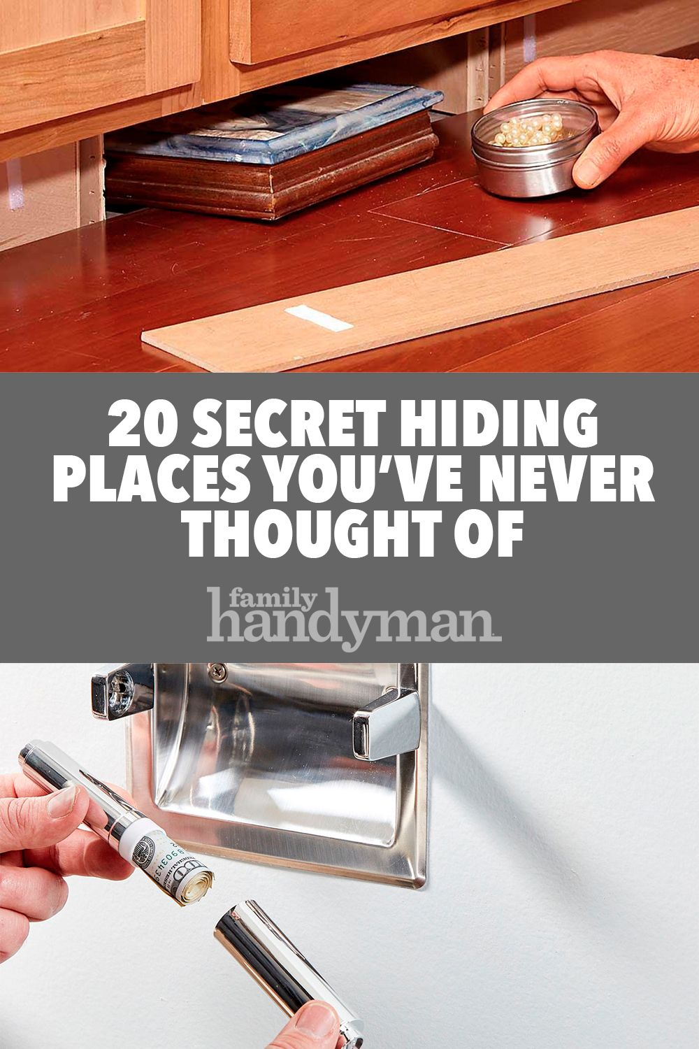 20 Secret Hiding Places You've Never Thought Of