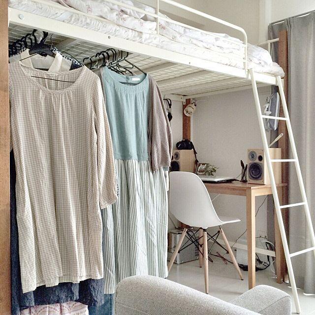 ワンルーム 1r 1kレイアウト48人のリアル実例 気になる収納やインテリアコーディネート法も Room Design Bedroom Dorm Room Designs Small Room Bedroom