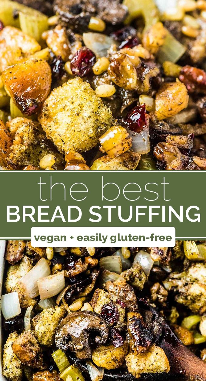 This is seriously THE BEST stuffing recipe ever! #stuffingrecipes