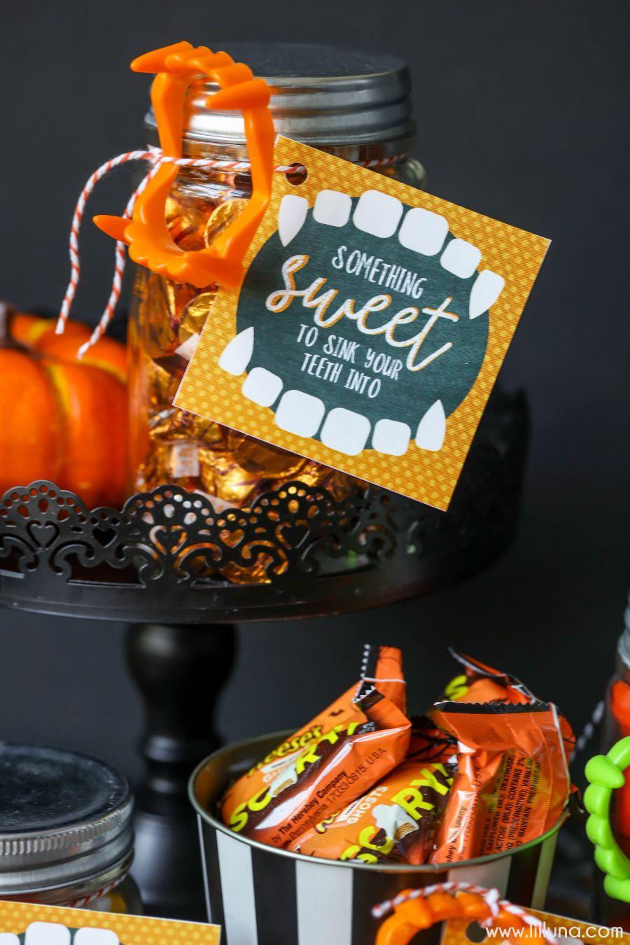 DIY Halloween Gift Idea and Halloween Printable   Free halloween ...