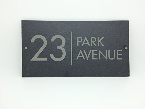 Slate House Sign Name Number Door House Sign 25x13cms Uk Sign Shop Http Www Amazon Co Uk Dp B00snc4x Traditional House Numbers House Numbers House Name Signs Contemporary house name signs uk