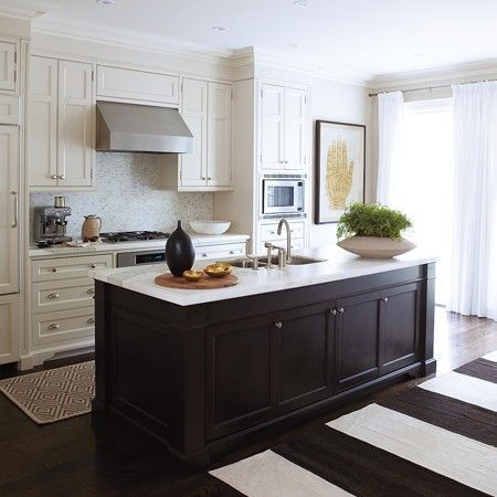 beautiful kitchens contrasting cabinets home ideas home rh pinterest com