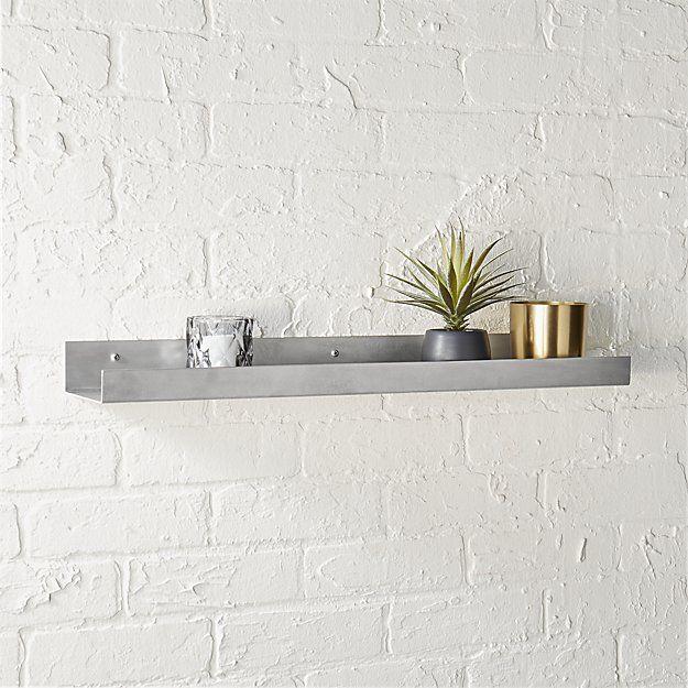 Metal Aluminum Wall Shelves Cb2 Wall Shelves Wall Shelves