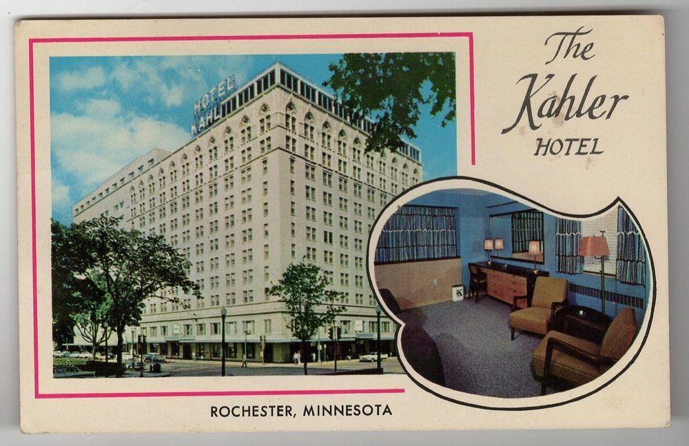 rochester minnesota mn the kahler hotel vintage postcard chrome rh pinterest com