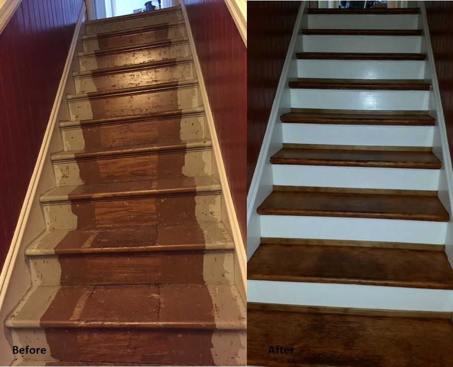 Before After Refinished 120 Year Old Fur Stairs Victorian House San Francisco Ca Installing Hardwood Floors Vinyl Installation Victorian Homes