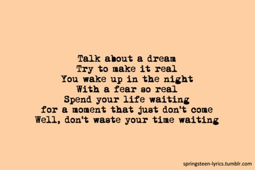 Bruce Springsteen Has Some Of The Most Thought Provoking Lyrics Badlands Music Pinterest