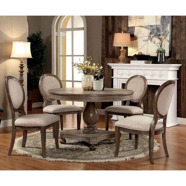 furniture of america lelan rustic country 5 piece round 48 inch rh pinterest com