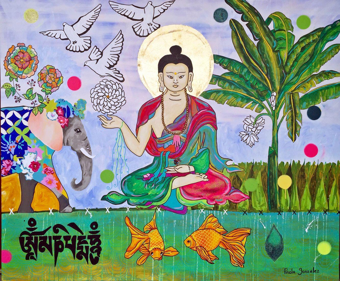 Art by Paola Gonzalez, Buddha, buddha painting, buddha art, zen ...