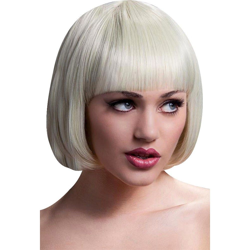 Fever mia short wig with bangs blonde yellow womenus products