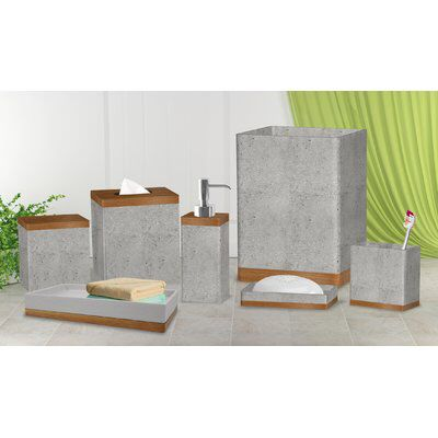 cerny concrete stone 7 piece bathroom accessory set homey is happy rh pinterest com