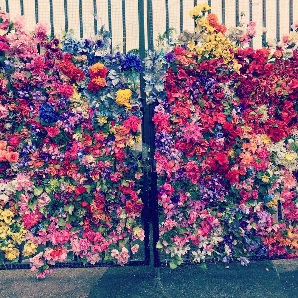 Flower Wall Flower Wall Created On Metal Mesh Sprung Design Pinterest