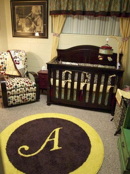 a yellow brown nursery for the kids rh pinterest com