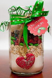 christmas party favors cookie mix in a jar christmas party