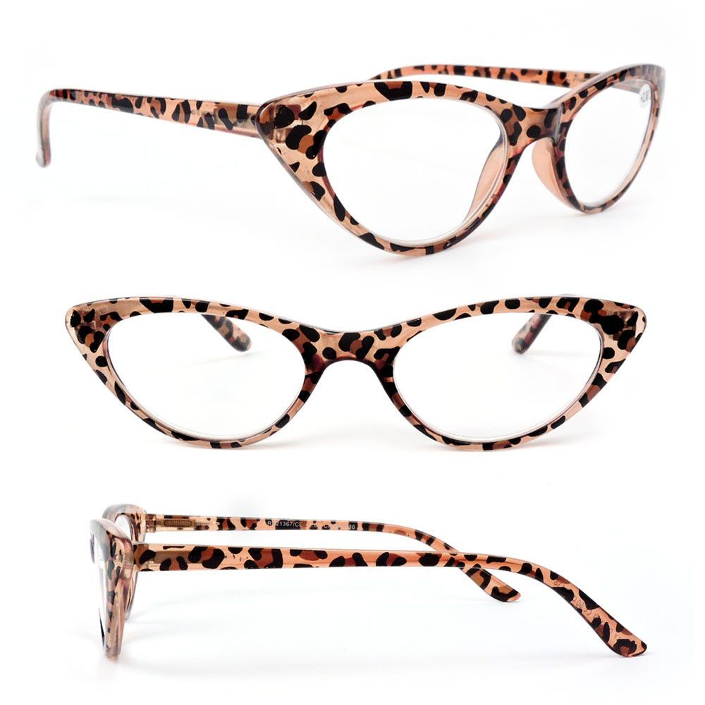 e1241a1487 Cat Eye Frame Spring Hinges Black or Tortoise Women s Reading Glasses  175-300