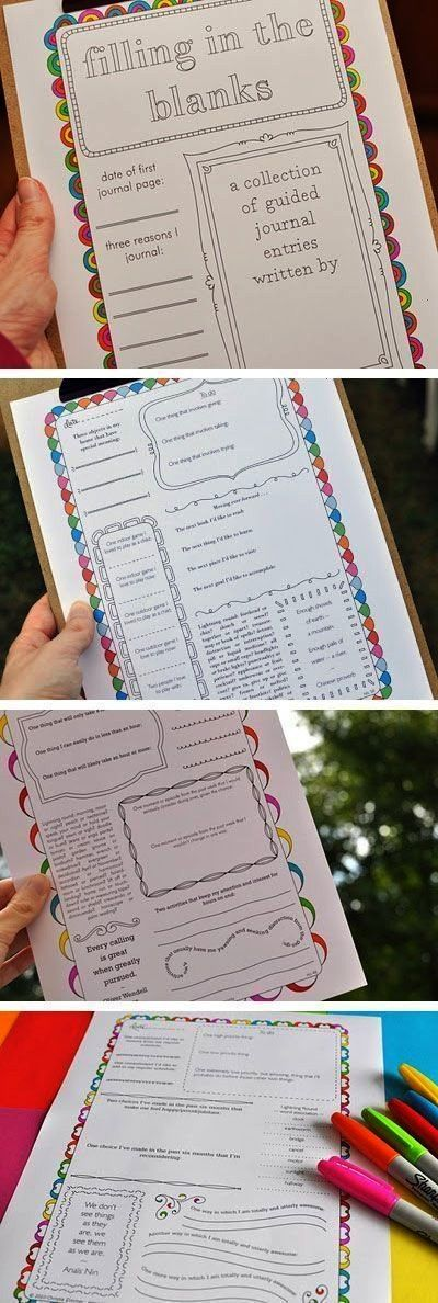 Printable Journal Pages -I'm thinking these may be good to use in the classroom...50 Free Printable