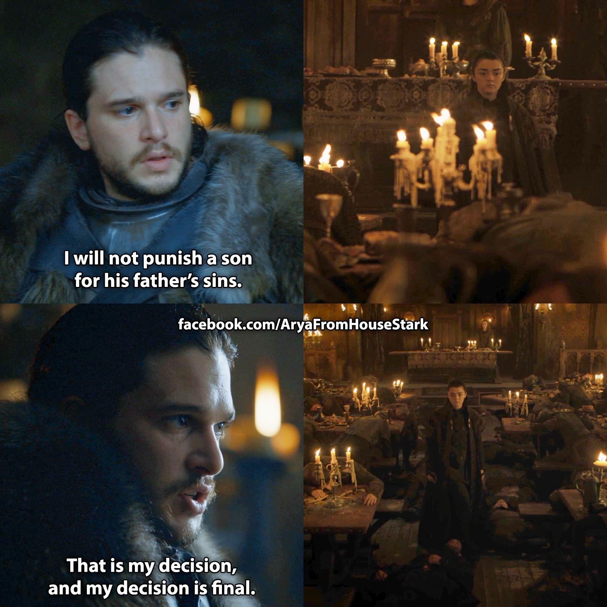 Game Of Thrones Season 7 Quotes Jon Snow Kit Harington Arya Stark