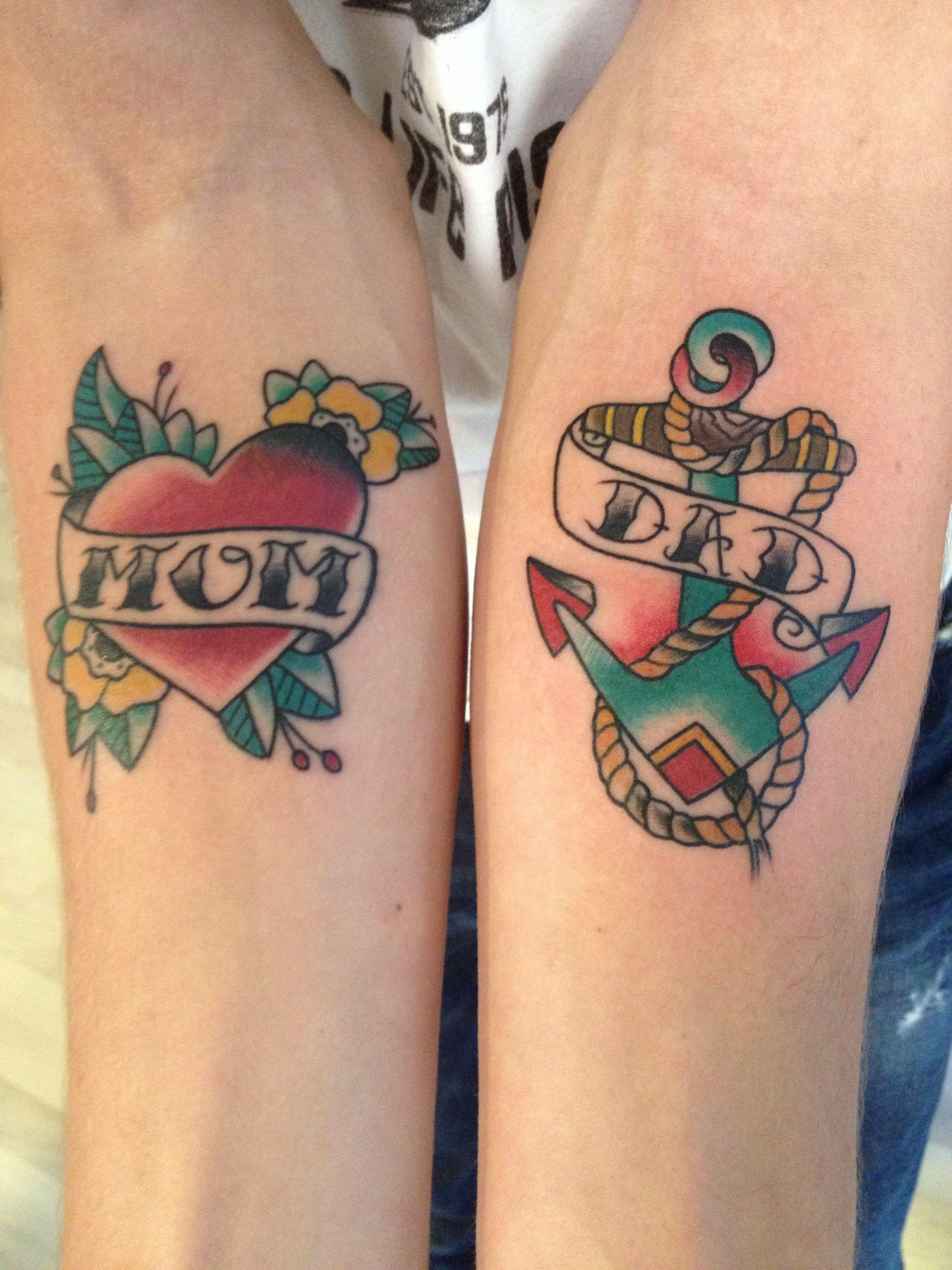 Old School Classic mom and dad Mom tattoos, Tattoos, Mom
