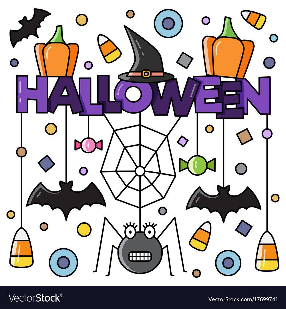 Halloween attributes vector image on VectorStock Vector