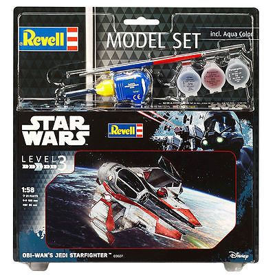 Revell Star Wars Obi-Wans Jedi Starfighter 03607 with Paints